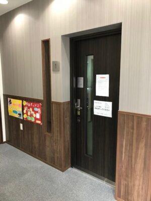 ピアノレッスン室 ヤマハ木製防音ドア設置
