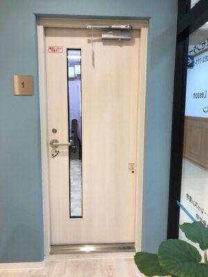 ポピュラーミュージックスクール ヤマハスチール防音ドア設置